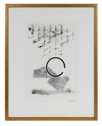 Minimalist Monochrome Abstract <br>1990-2000s Monotype <br><br>#99306