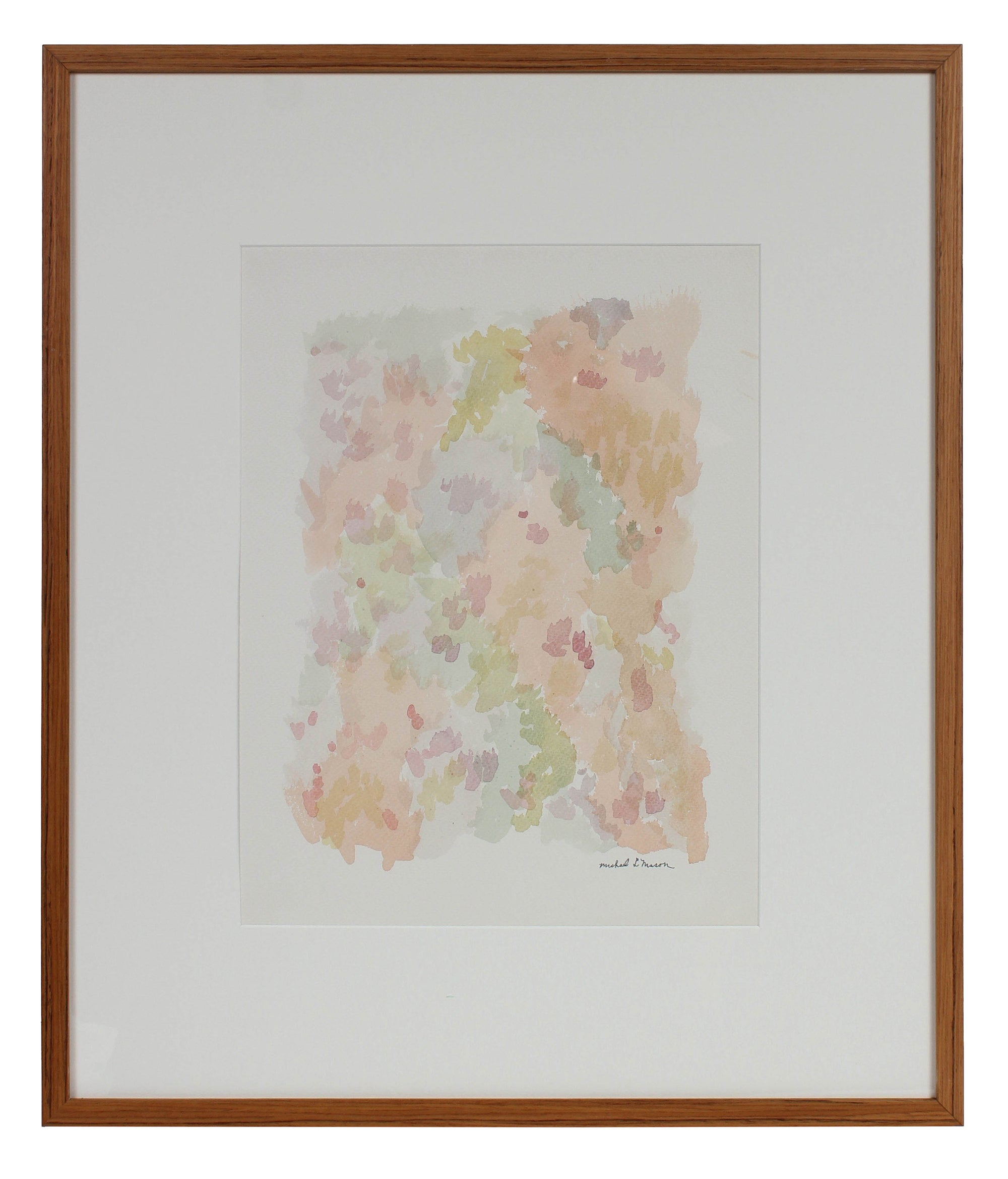 Sunny Pointillism Abstraction <br>1963 Watercolor <br><br>#98101