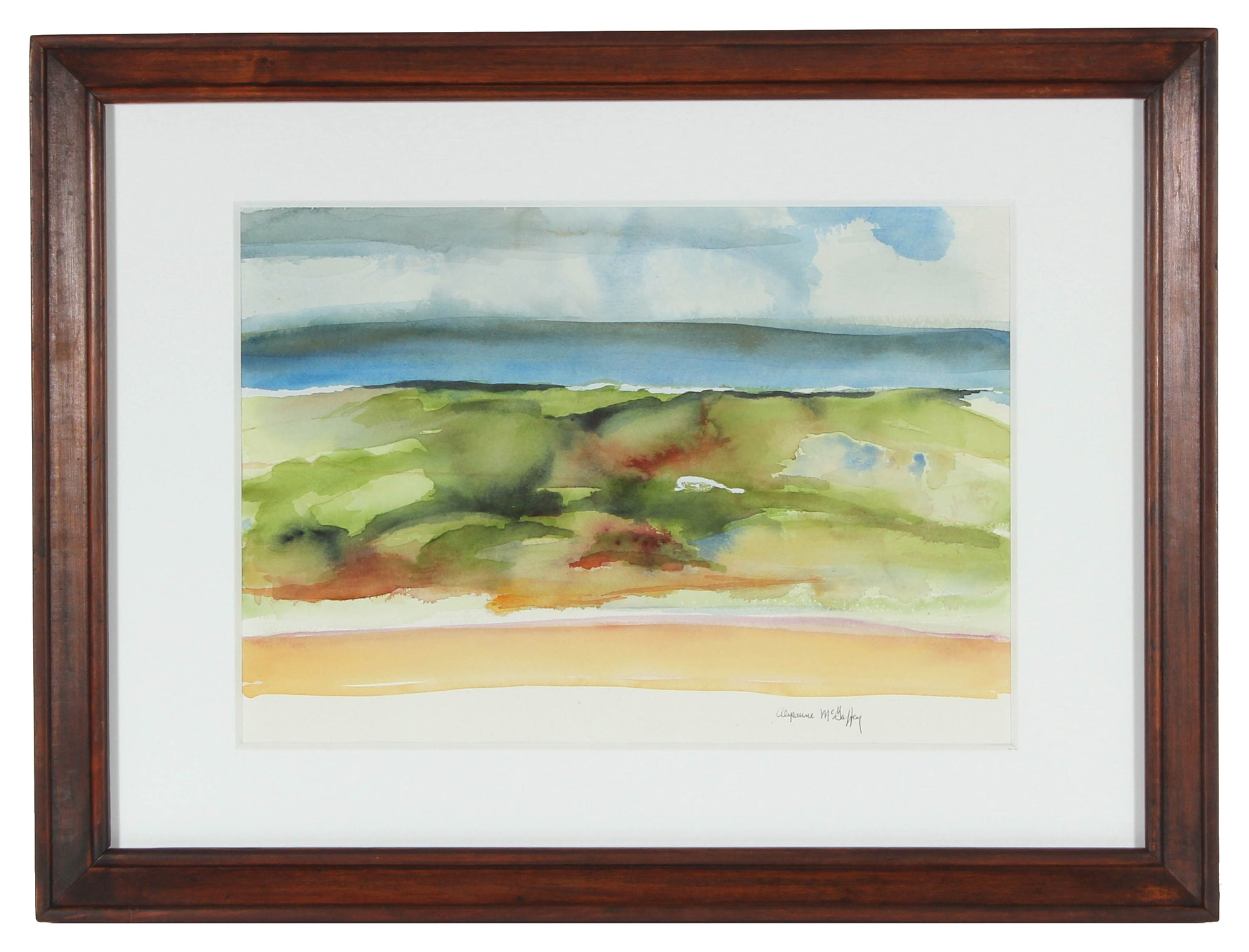 <i>Sonoma Beach, CA</i> <br>20th Century Watercolor<br><br>#43736