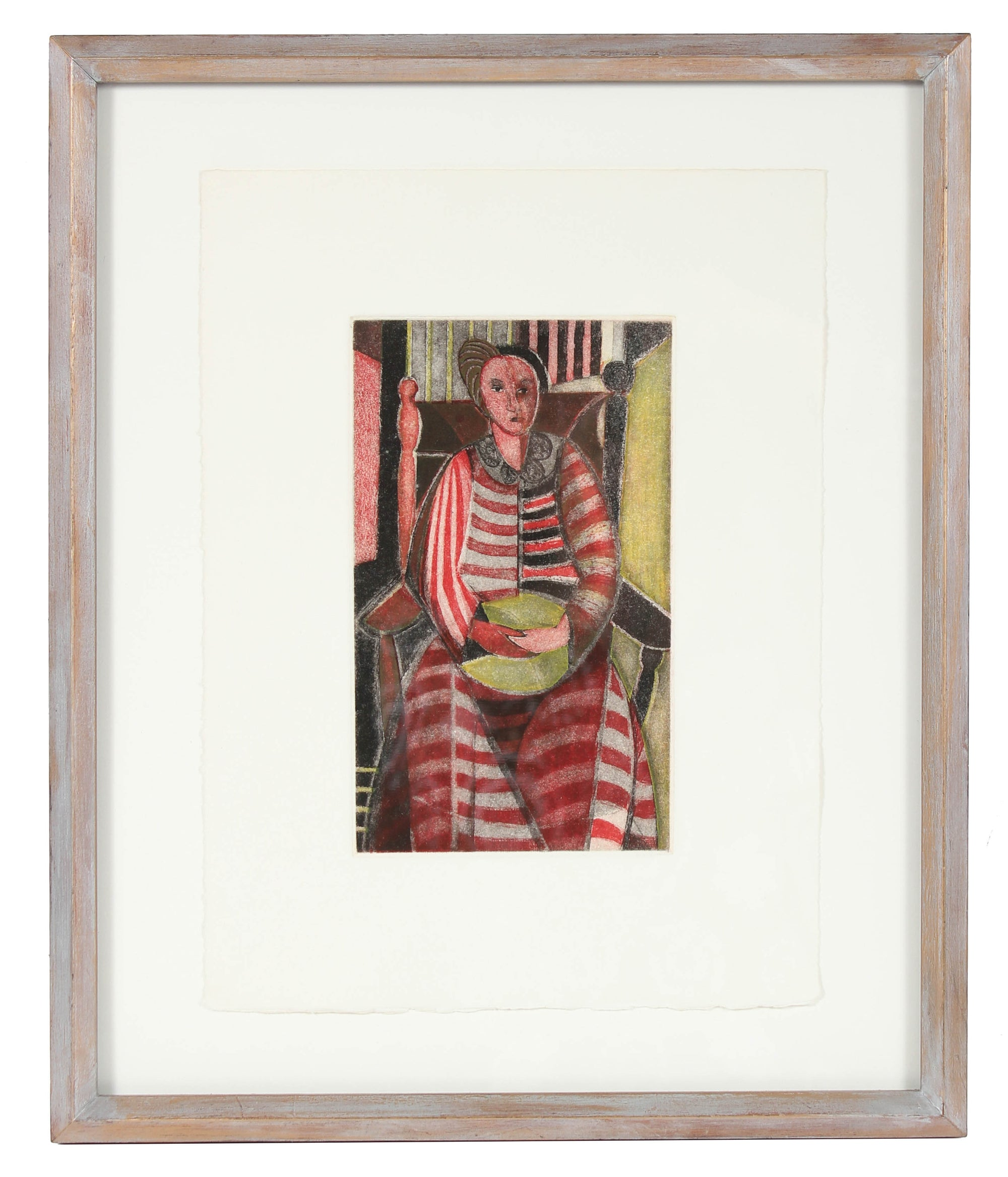 <i>Woman in Striped Dress</i><br>1949 Etching<br><br>#83510