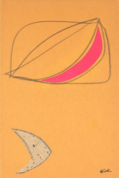 Cheerful Shapes Graphite & Paper Collage <br>Late 20th Century <br><br>#83312