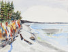 <i>Beach Lines at Spee-B-Dah</i>, Tulaip, WA <br>Late 20th Century Watercolor <br><br>#43857