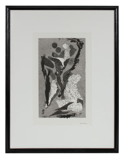 Modernist Abstracted Figures <br>1990-2000s Monotype <br><br>#99304