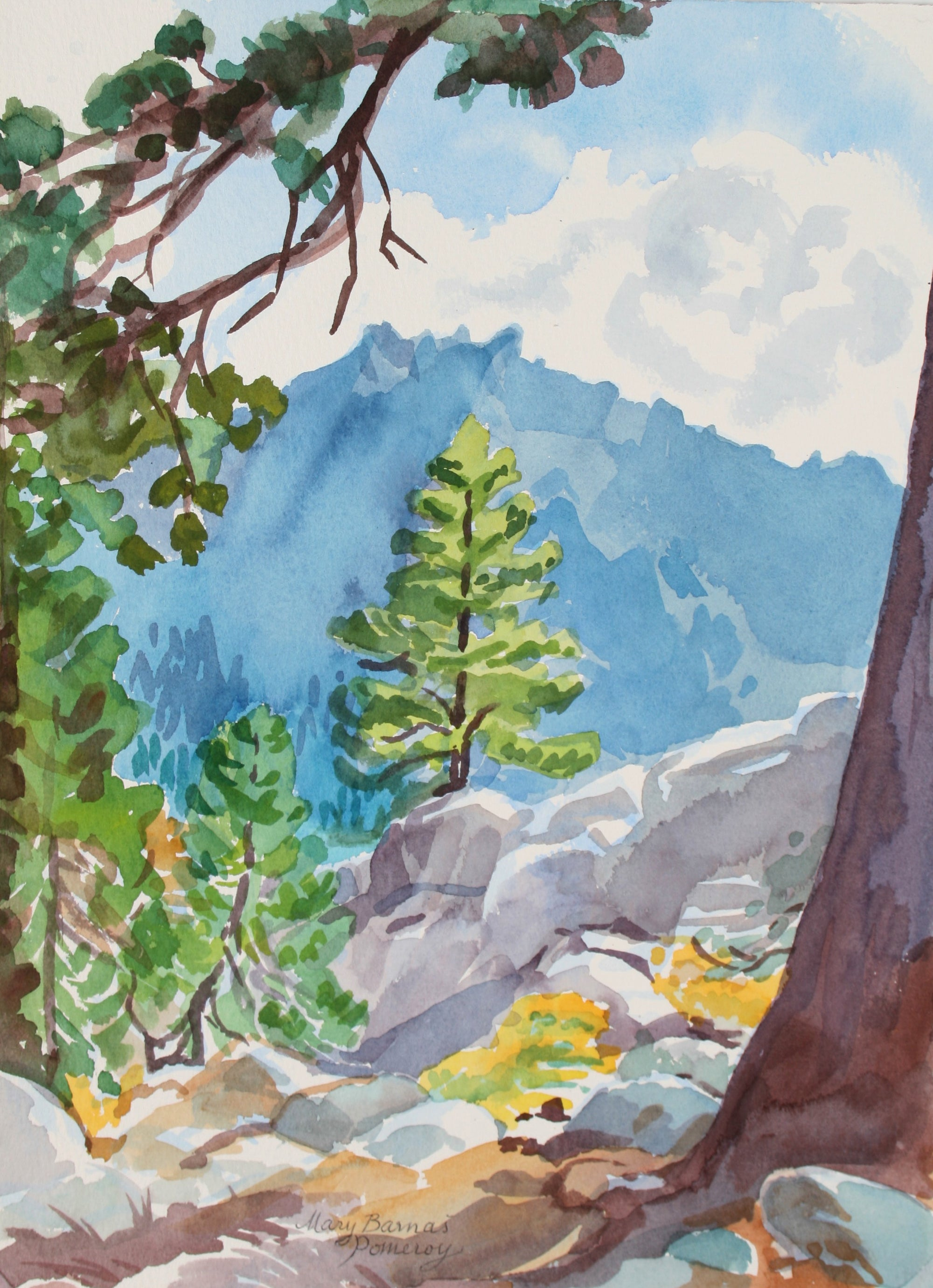 <i>Toward Thunder Mountain</i><br>September 1997 Watercolor<br><br>#72027