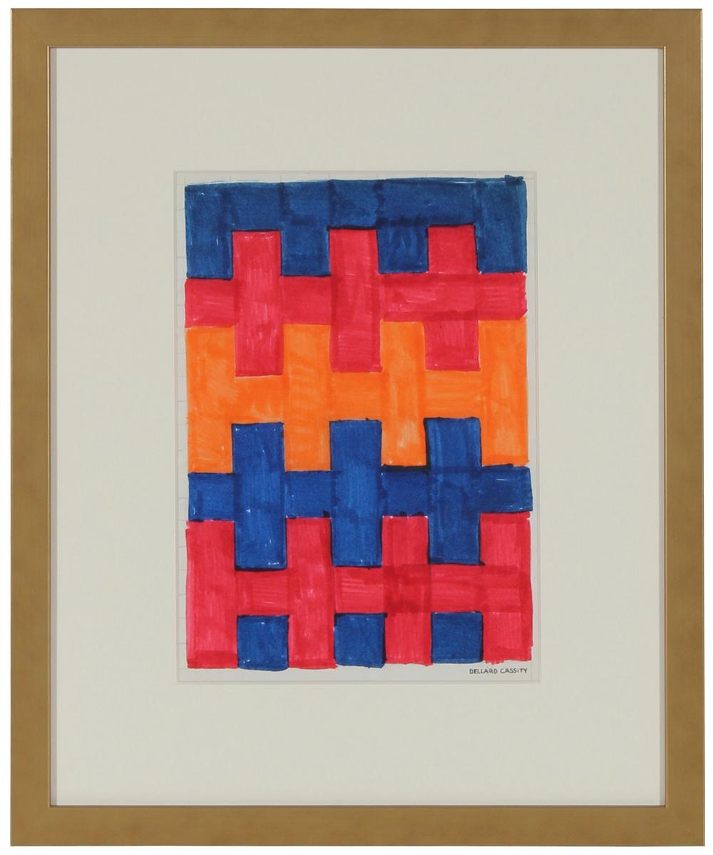 Geometric Abstract in Marker<br>Mid Century<br><br>#24652B