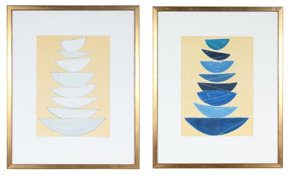 <i>Sails I & II</i> <br>Set of Two Limited Edition Archival Prints <br><br>ART-10350