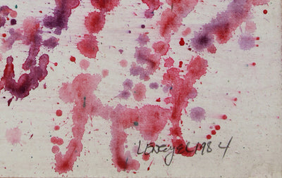 Pink & Purple Spots & Specks <br>1984 Watercolor <br><br>#B0064