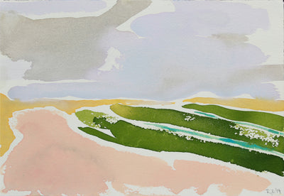 <i>Andalusian Fields II</i> <br>2019 Gouache <br><br>#B0203