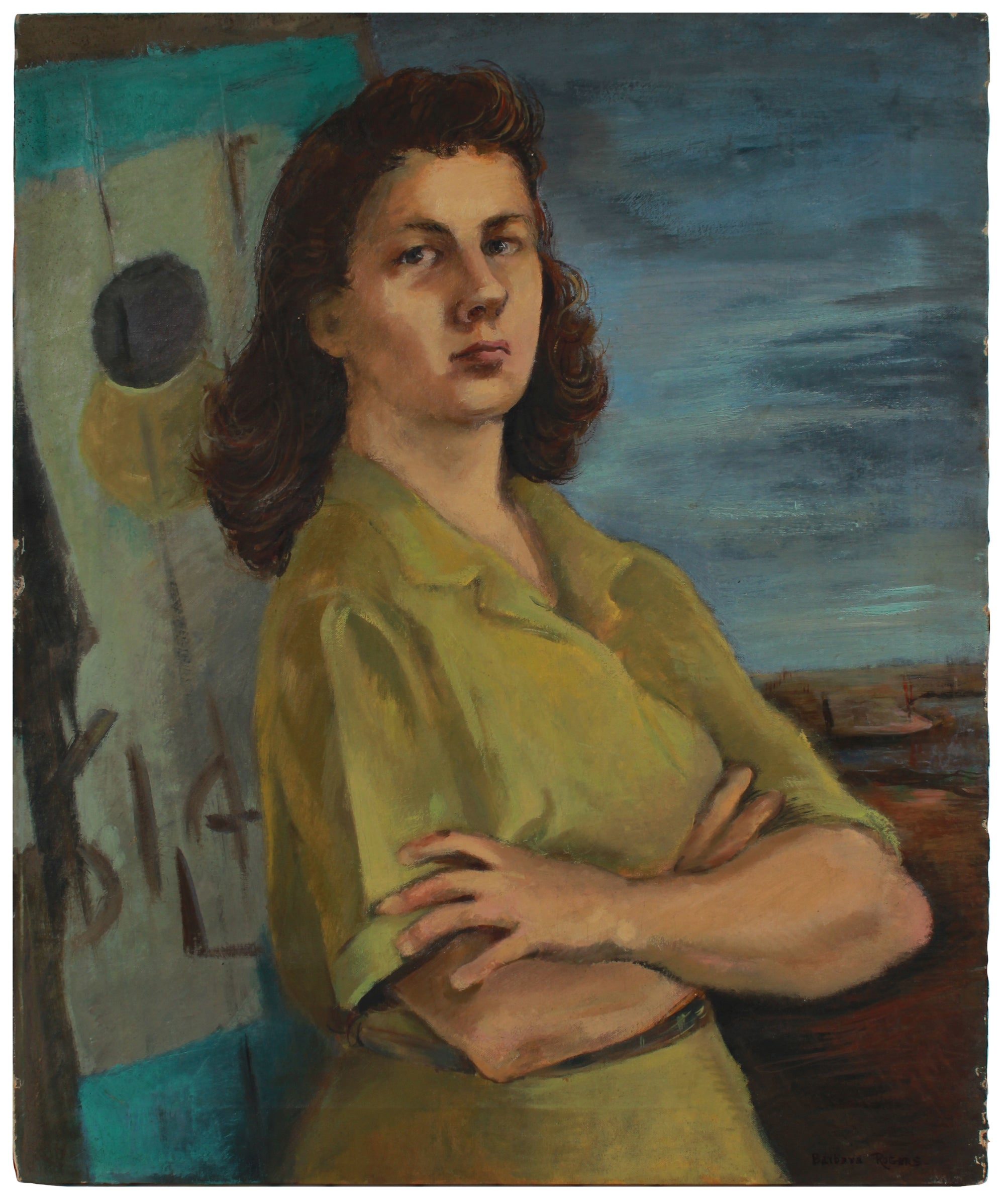 Intense Portrait of a Woman <br>1944-45 Oil <br><br>#B0806