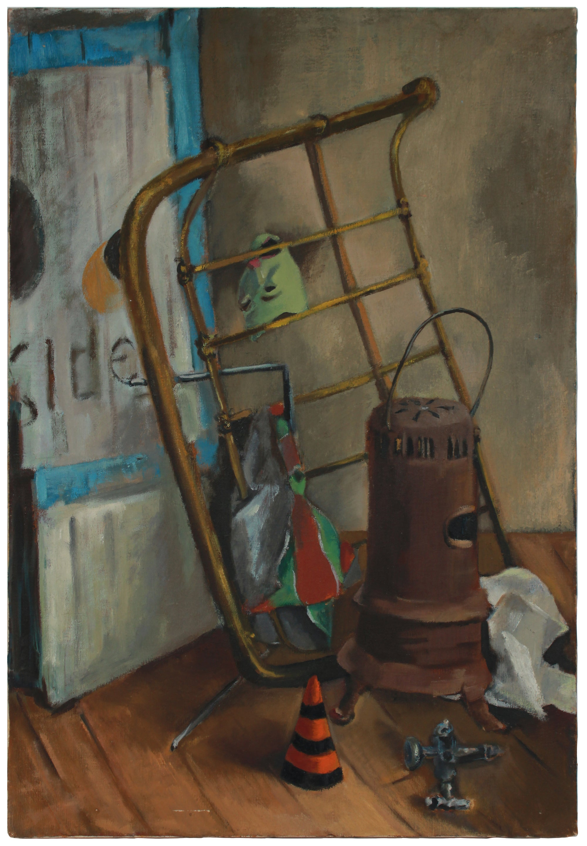 Modernist Oil Still Life, 1945 <br><br>#B0807