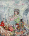 Still Life with Toys & Doll <br>1950s Oil <br><br>#B0911