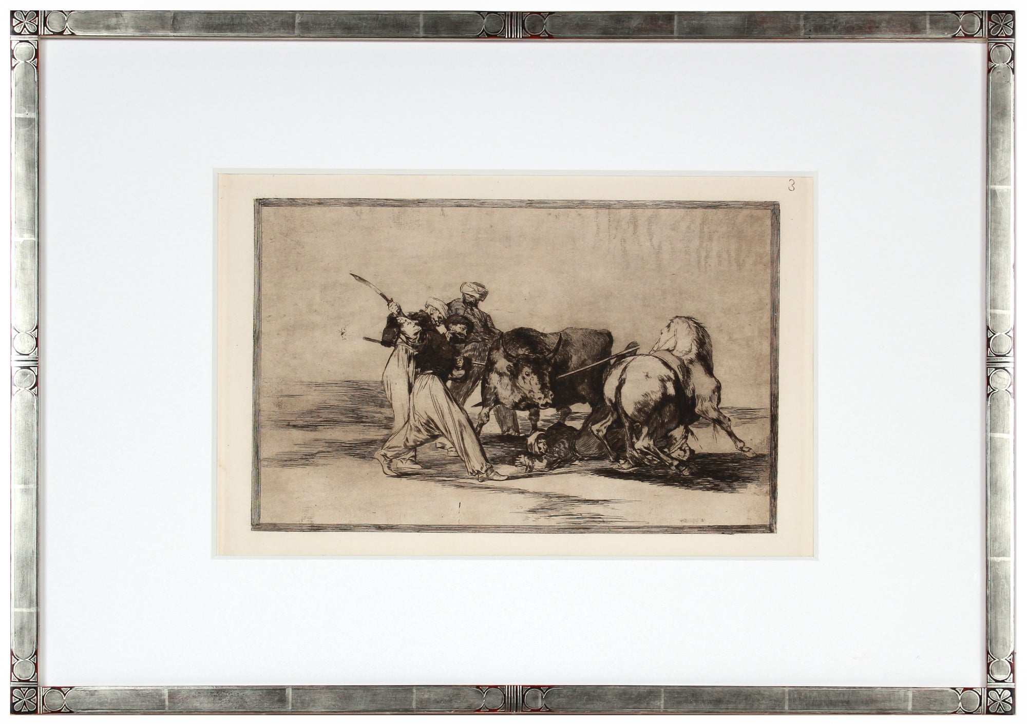 <i>La Tauromaquia</i> (The Bull Fighting Series) Plate 3 <br>1876 Drypoint Etching & Aquatint <br><br>#B1016
