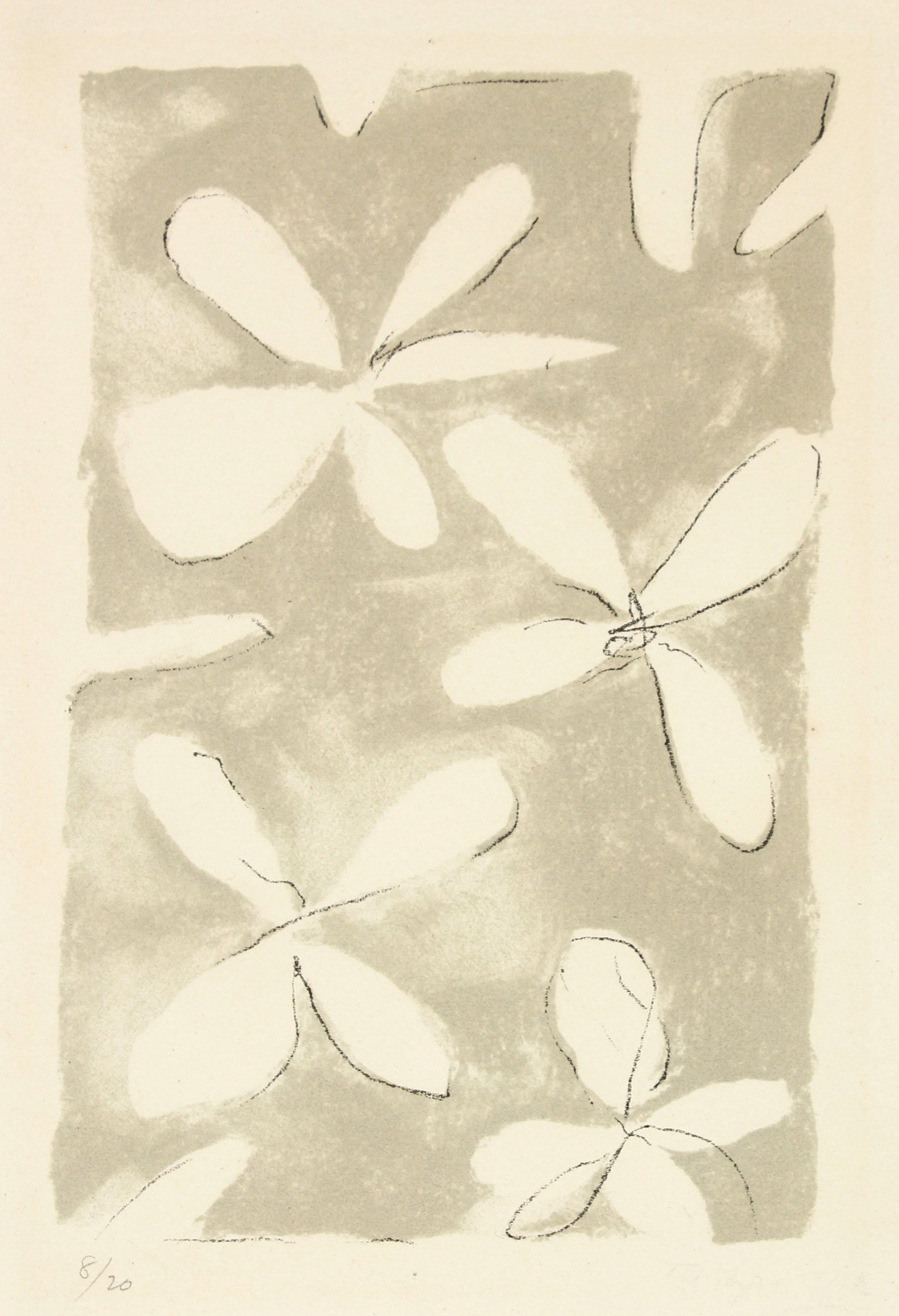 <i>Fleurs</i> From <i>Le tir à l'arc</i> <br>1960 Lithograph <br><br>#B1282
