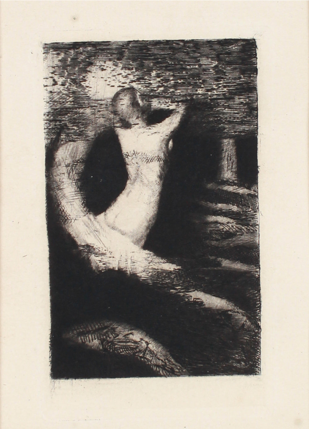 <i>Passage d'une âme (Passage of a Spirit)</i> <br>1981 Etching <br><br>#B1290