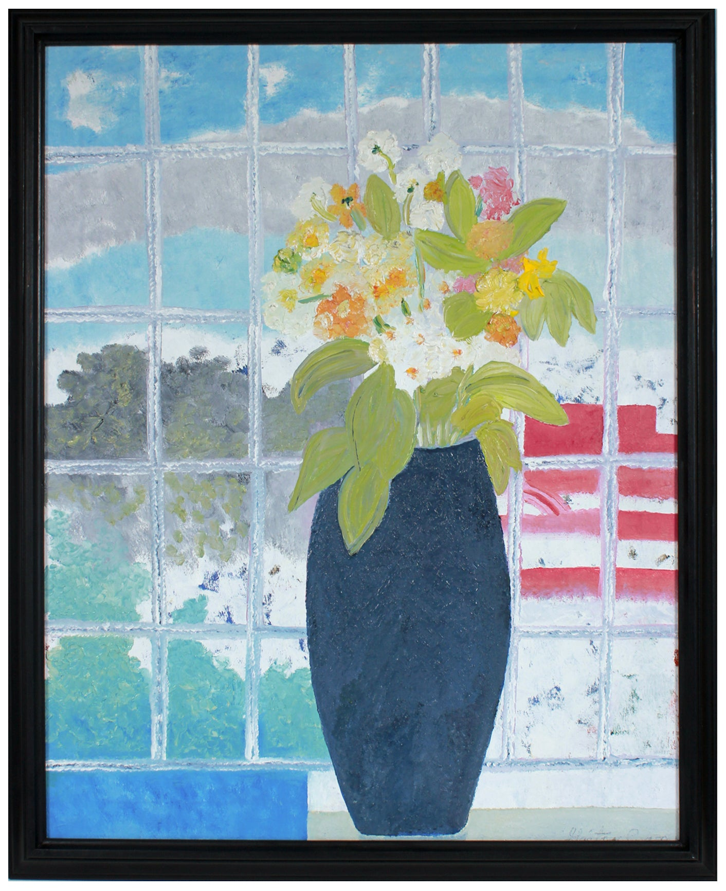 Quarantine Bouquet <br>2020 Oil on Canvas <br><br>#B1373