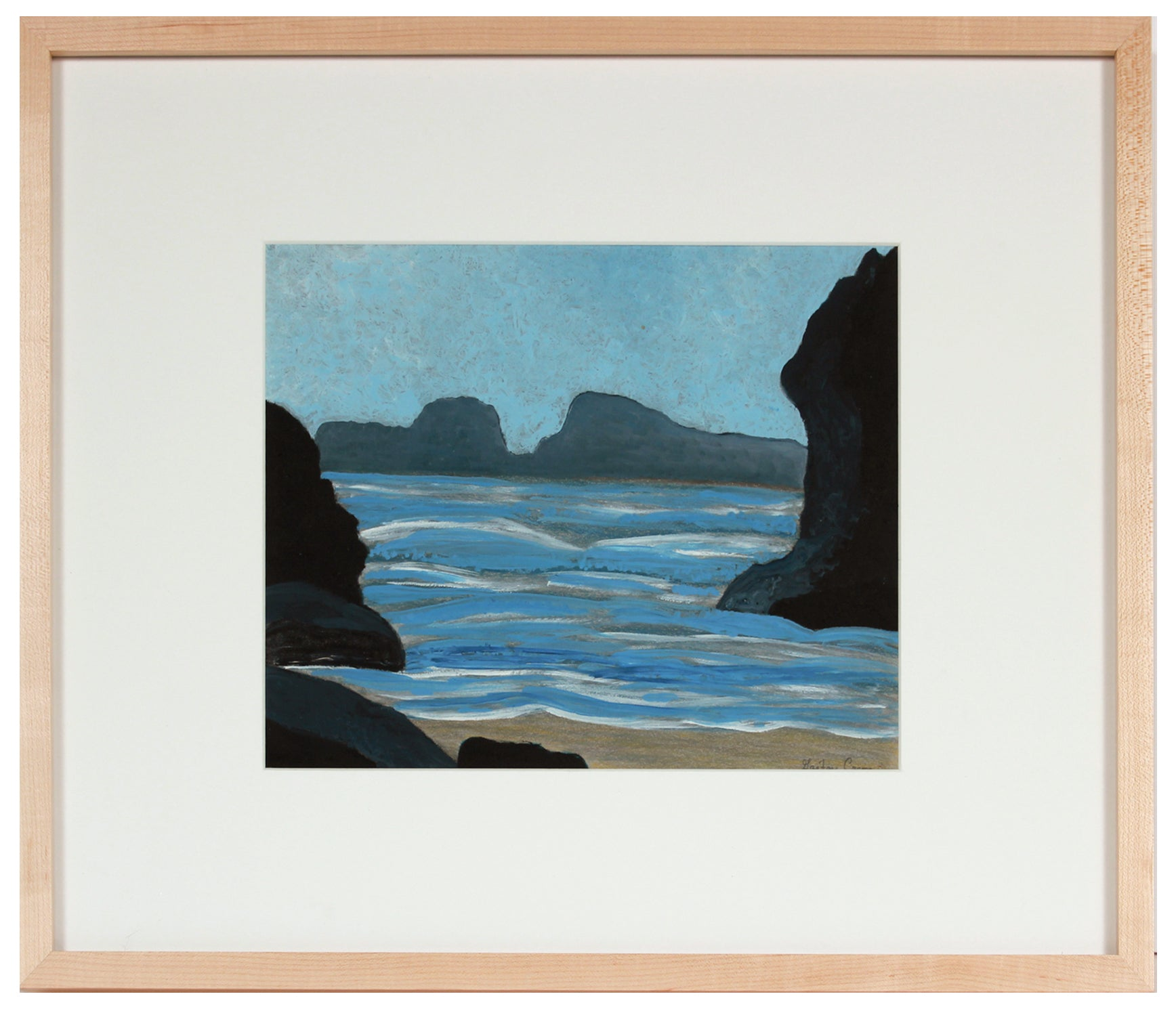 <i>Marin Headlands</i> <br>2020 Oil & Colored Pencil <br><br>#B1397