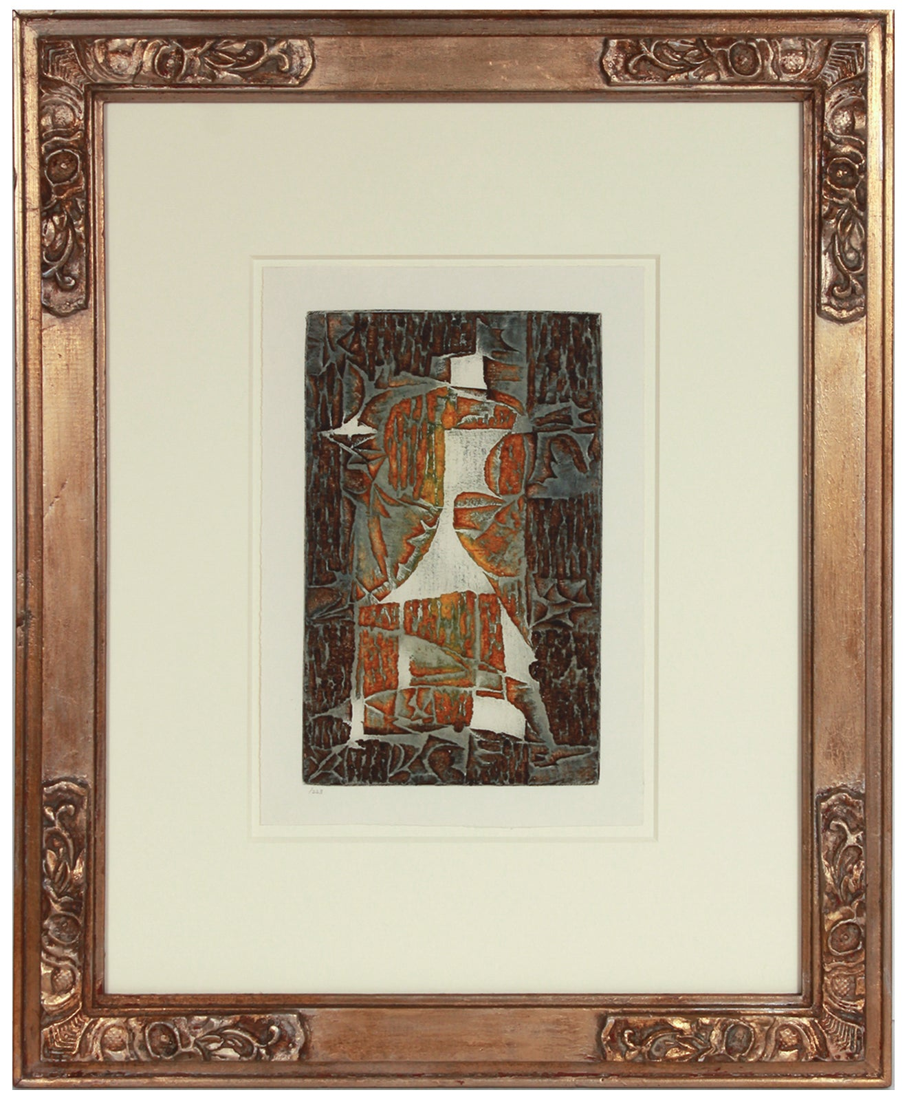 Geometric Modernist Abstract <br>1960s Color Etching <br><br>#B1581