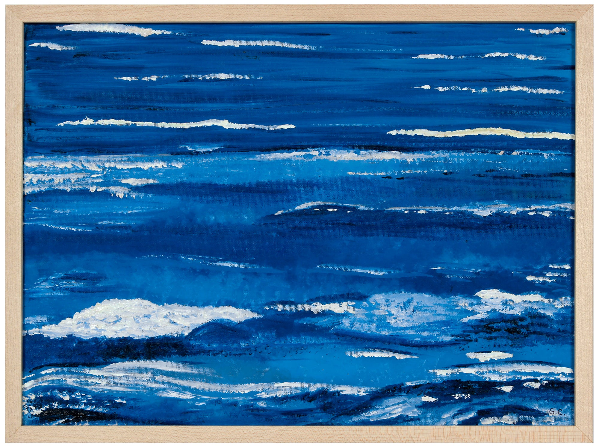 <i>Fluidity, Pacific Ocean</i> <br>2020 Oil on Canvas Mounted to Board <br><br>#B2026