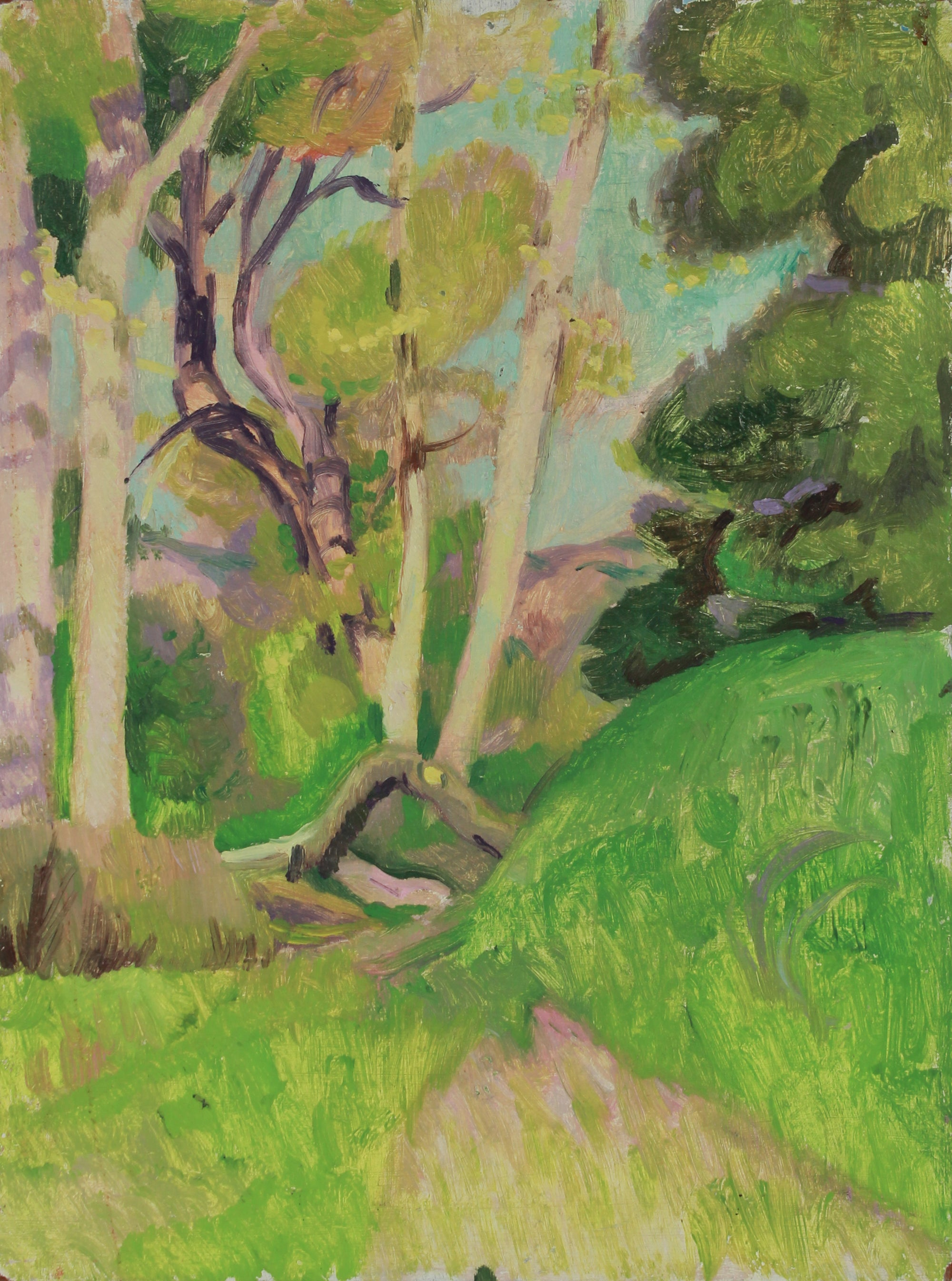 Verdant Hillside Forest <br>20th Century Oil <br><br>#B2616