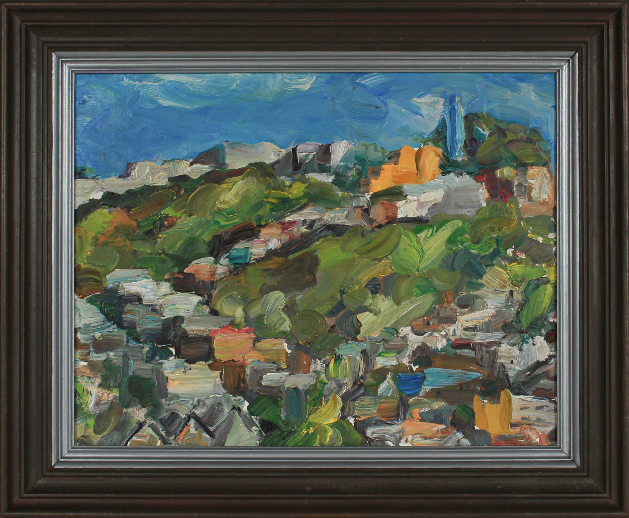 Expressionist San Francisco View <br>2008 Oil <br><br>#B2875