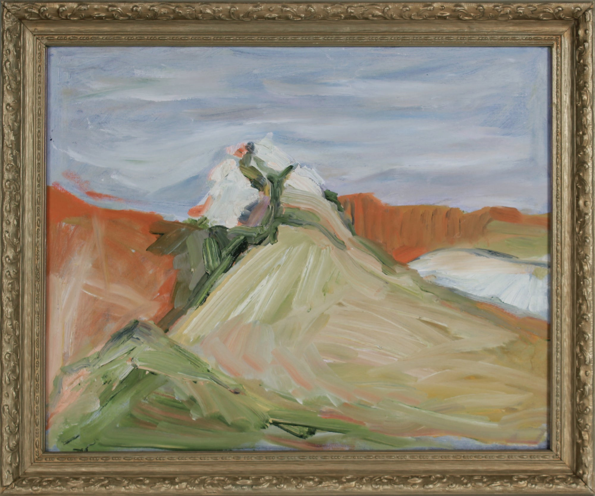 Expressionist Landscape Deconstruction <br>20th Century Oil <br><br>#B2915