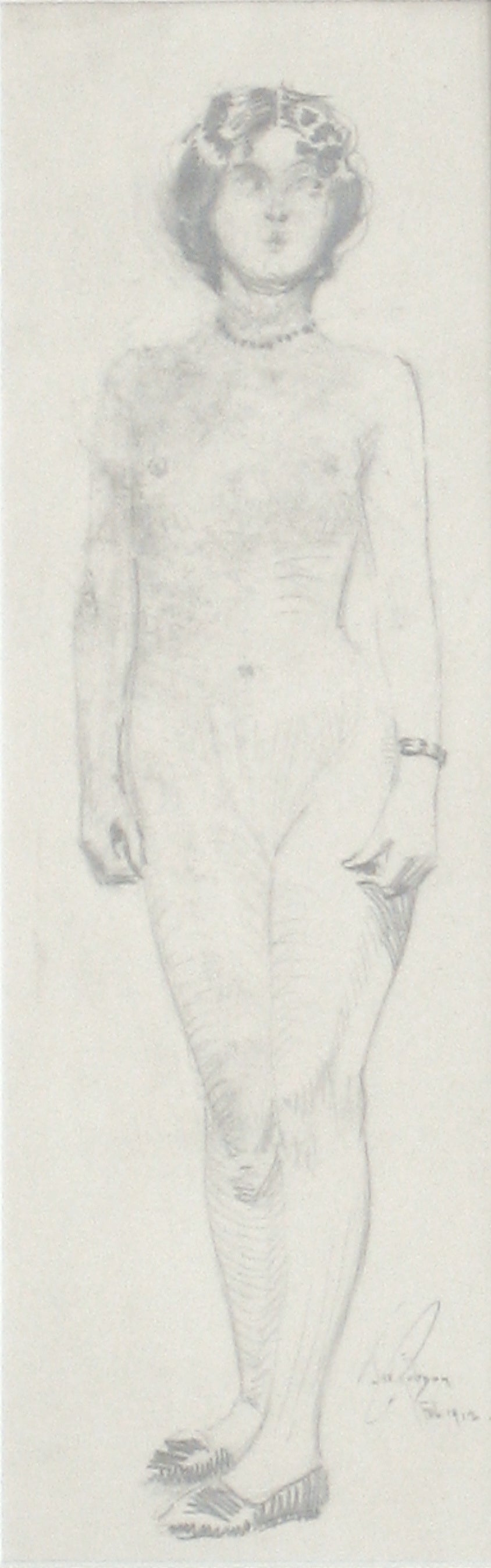 Standing Nude, Paris<br>Graphite, 1912<br><br>#0119