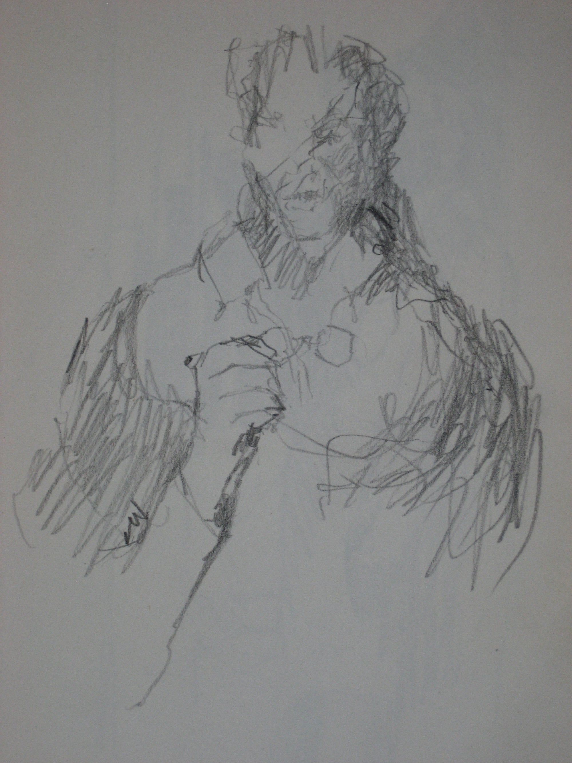 Abstracted Graphite Figure<br><br>#0220