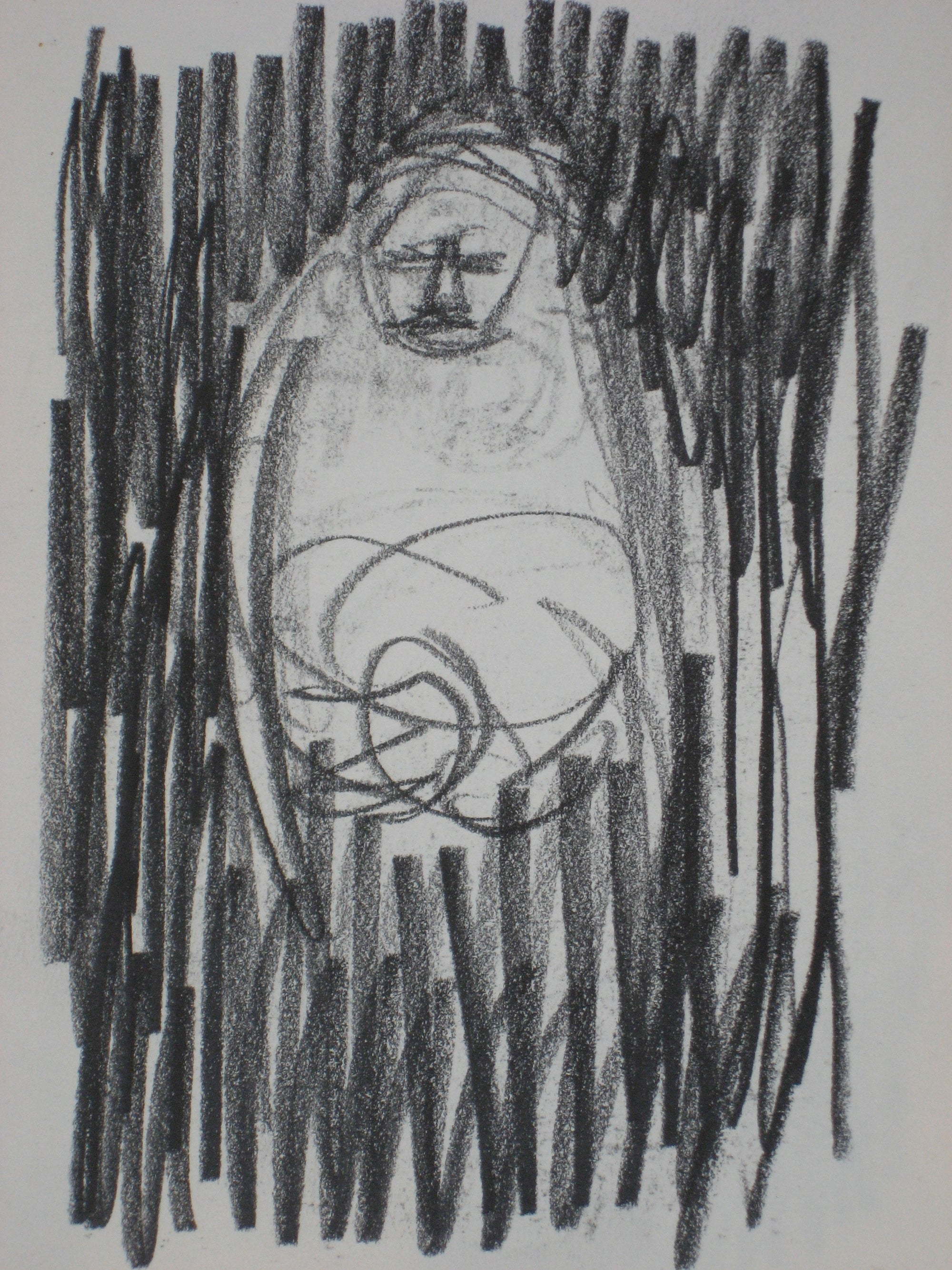Figure in Shadow<br>Graphite, 1950-60s<br><br>#0264