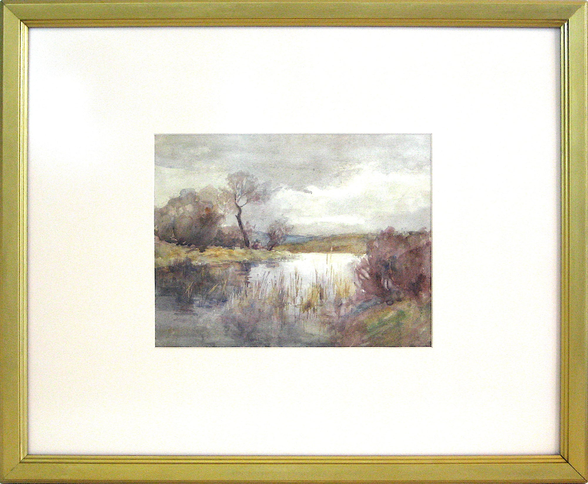 Marshes by the Lake Watercolor on Paper<br>Early-Mid 1800s<br><br>#10151