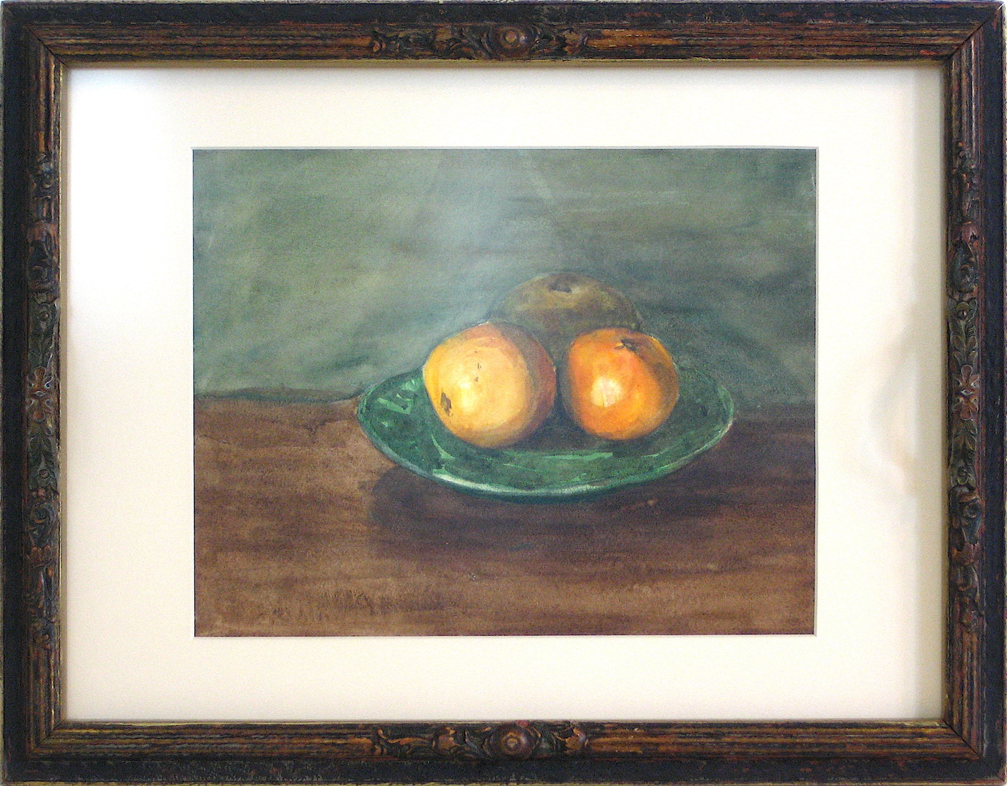 Still Life with Apples Watercolor on Paper<br>Early-Mid 1800s<br><br>#10152