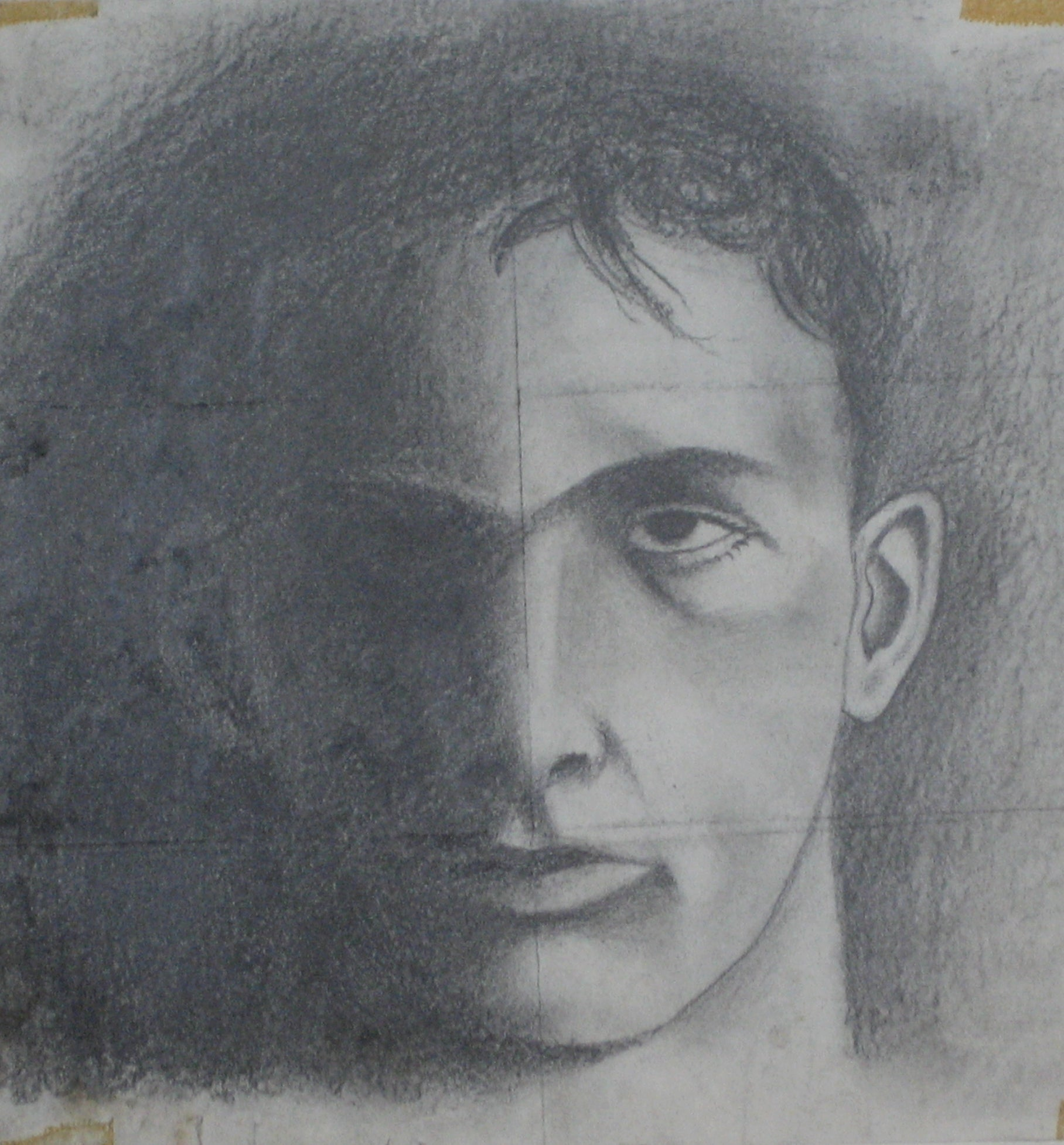 Portrait in Shadow<br>Graphite, 1961<br><br>#0396
