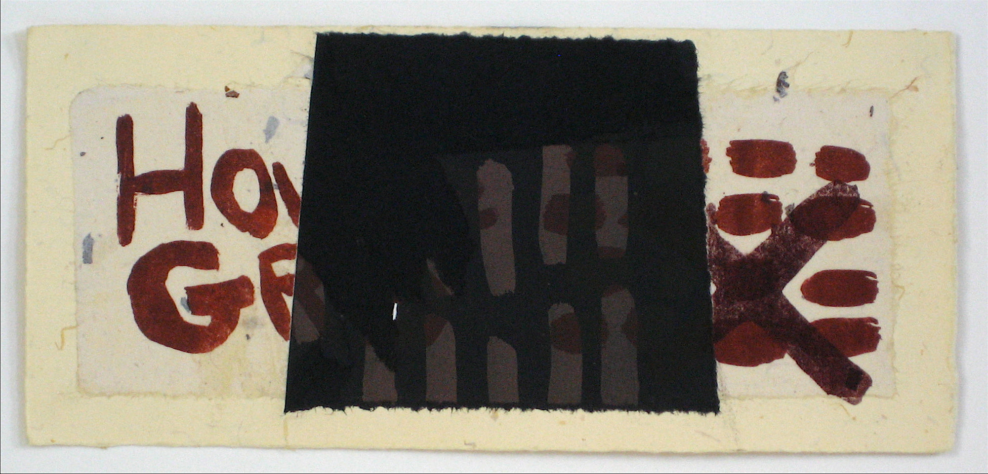 <i>House of Cards Series</i>, Abstracted Graphic Block <br>1997 Lithograph <br><br>#11686