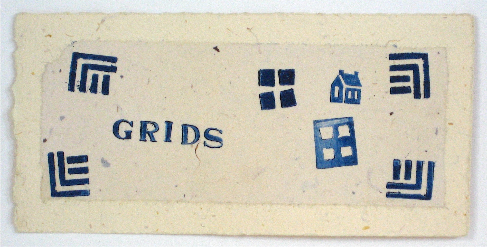 <i>Grids - House of Cards</i><br>1997 Lithograph & Chine Colle<br><br>#11687