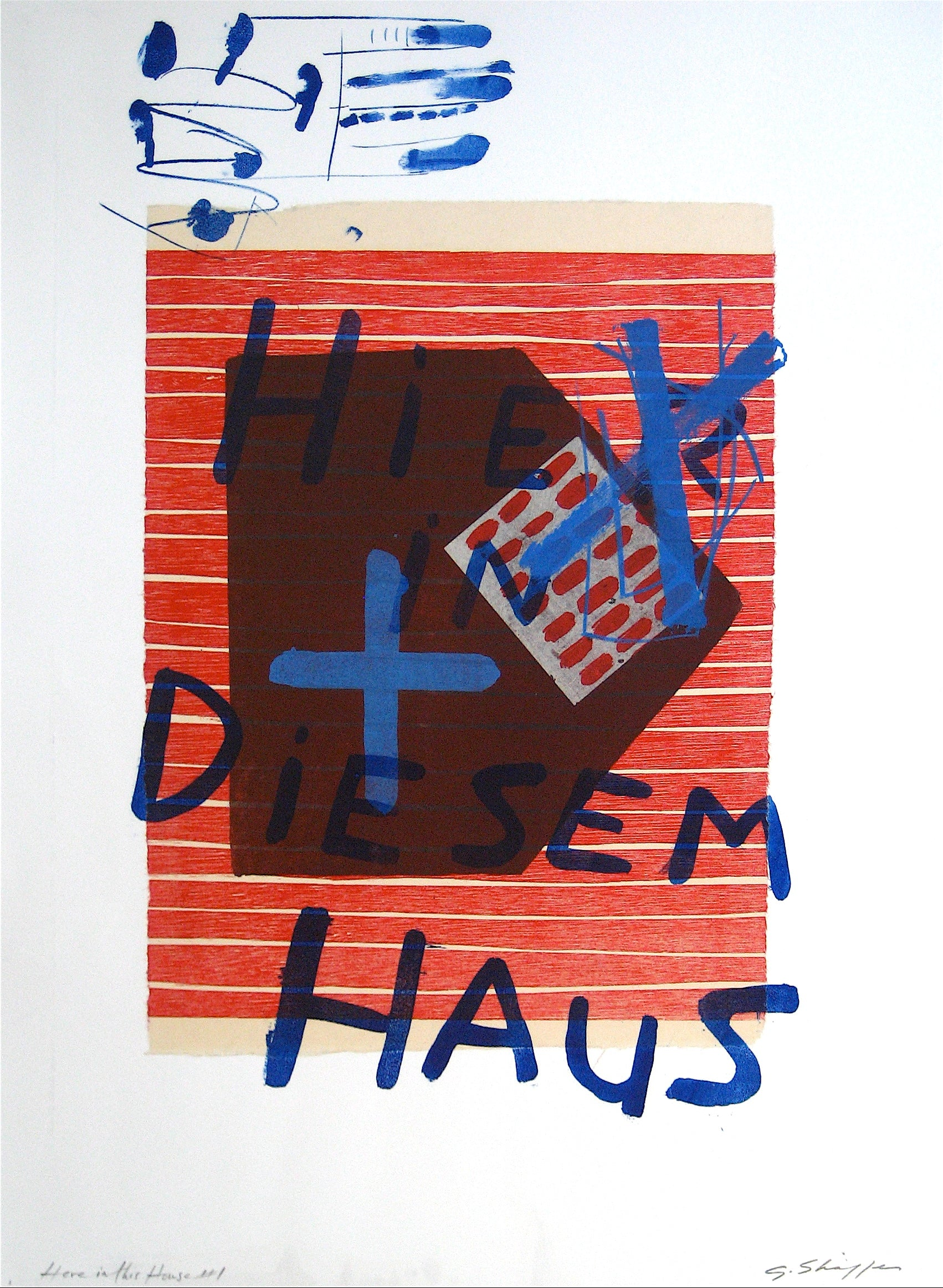 <i>Here is This House #1</i> <br>1998 Litho & Chine Colle <br><br>#11742