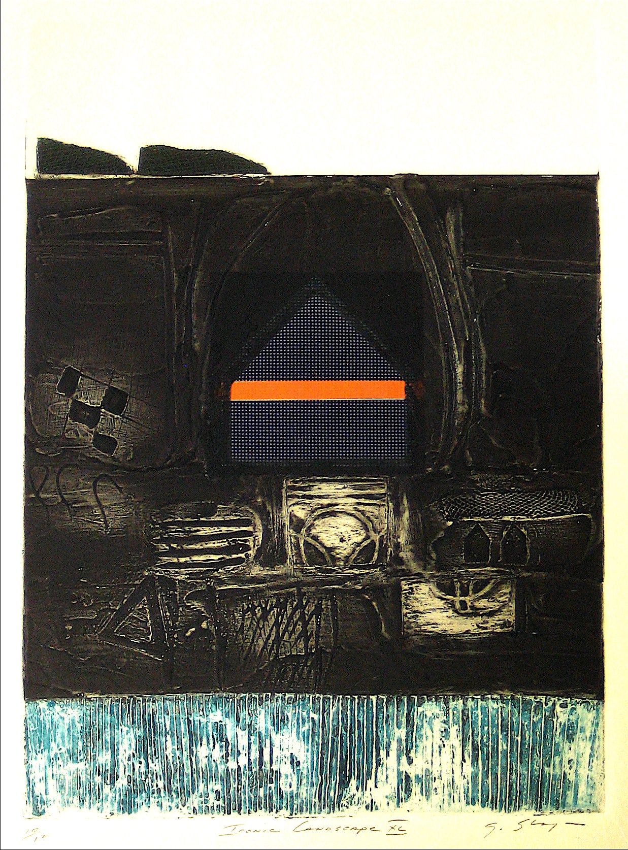 <i>Iconic Landscape XL</i> <br>1973 Collograph <br><br>#11953