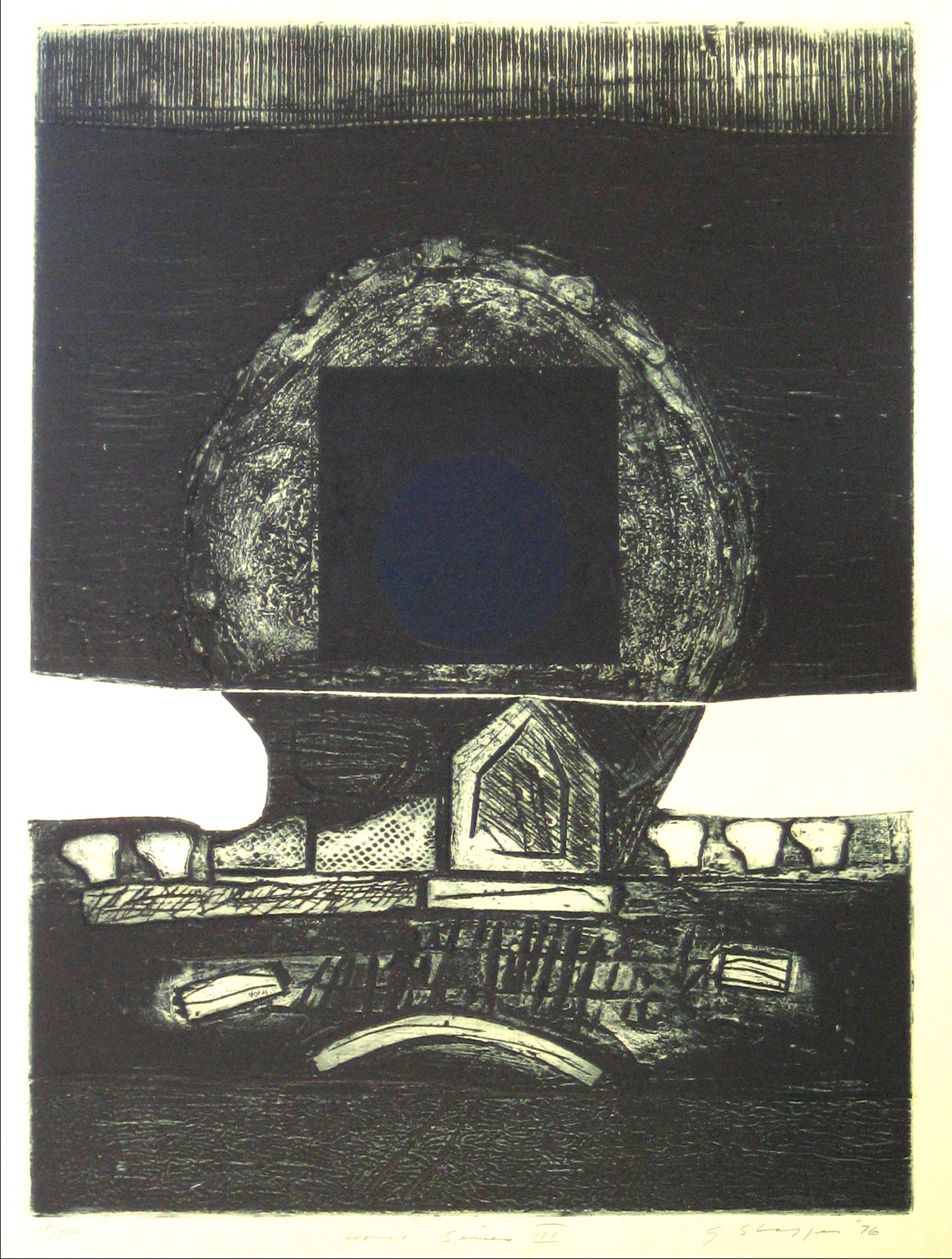 <i>House Series III</i> <br>1976 Collograph <br><br>#11956