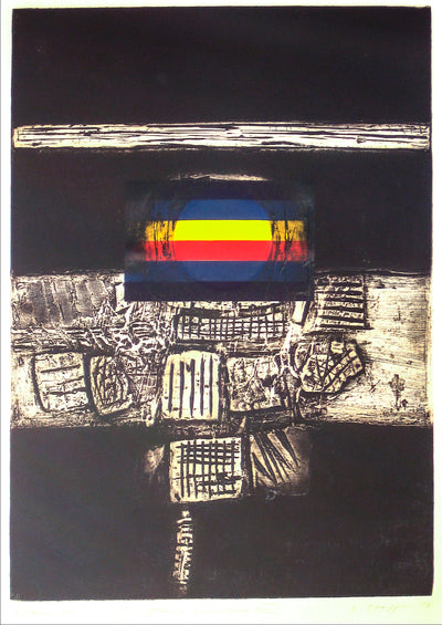 <i>Iconic Landscape XXXIII</i> <br>1970-80s Collograph <br><br>#11966