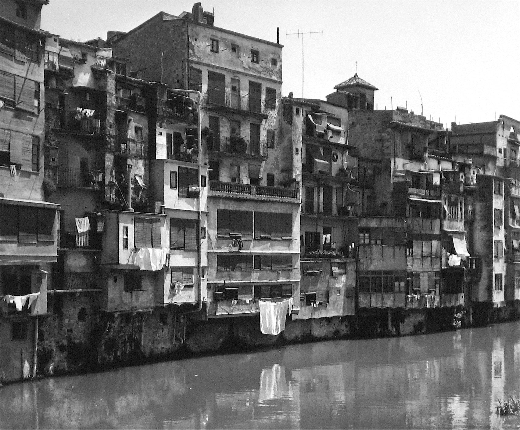 By a River in Spain<br>1960s Silver Gelatin Print<br><br>#12131