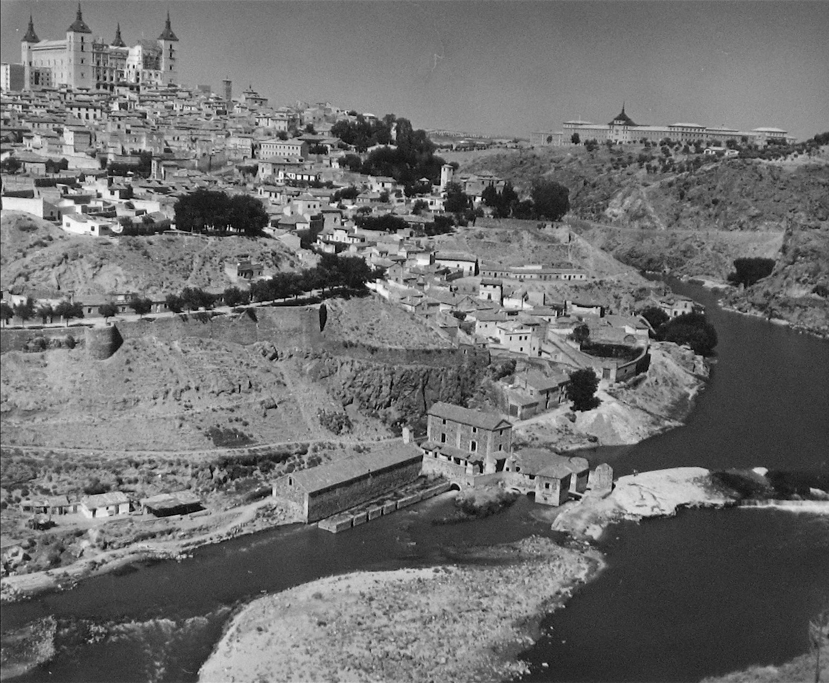 Castle on a Hill<br>1960s Silver Gelatin Print<br><br>#12136