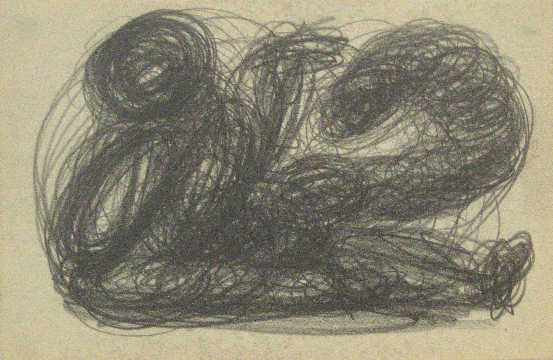Swirled Graphite Abstract <br>Early-Mid 20th Century <br><br>#13875