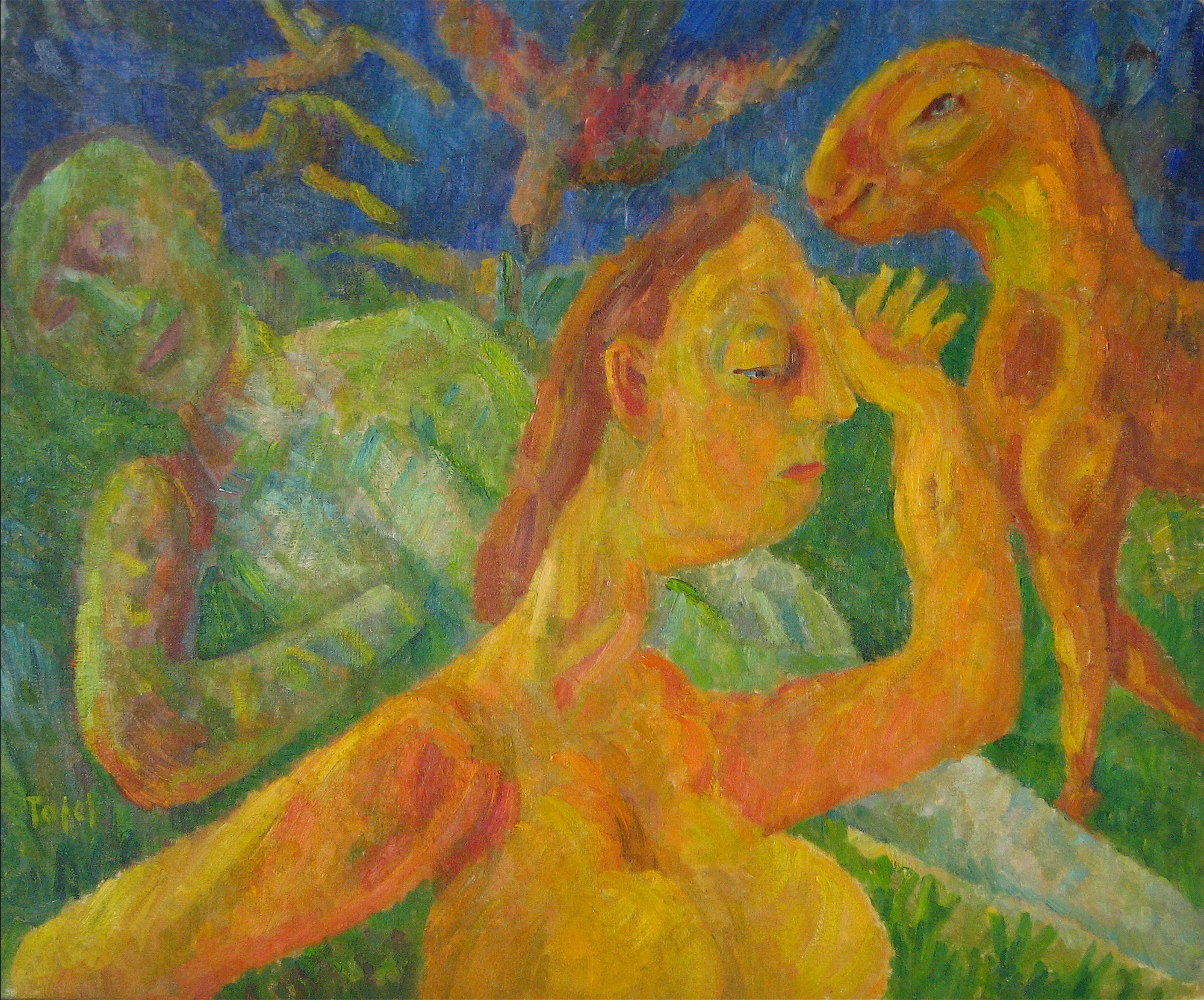 <i>Beast of Buchenwald</i> <br>1947 Oil on Canvas <br><br>#13990