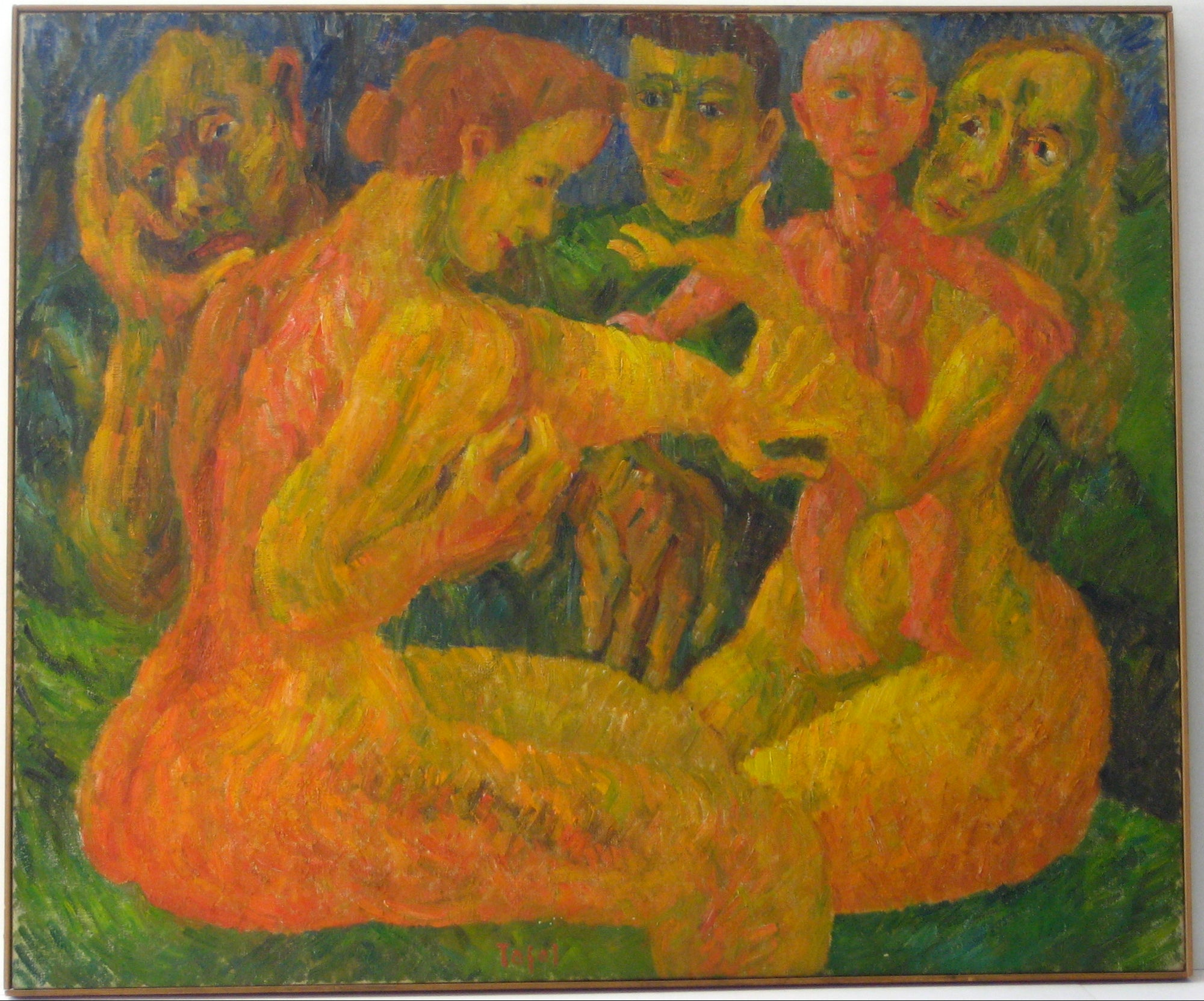 <i>Two Women, Sarah and Hagar</i><br>1945 Oil<br><br>#14012
