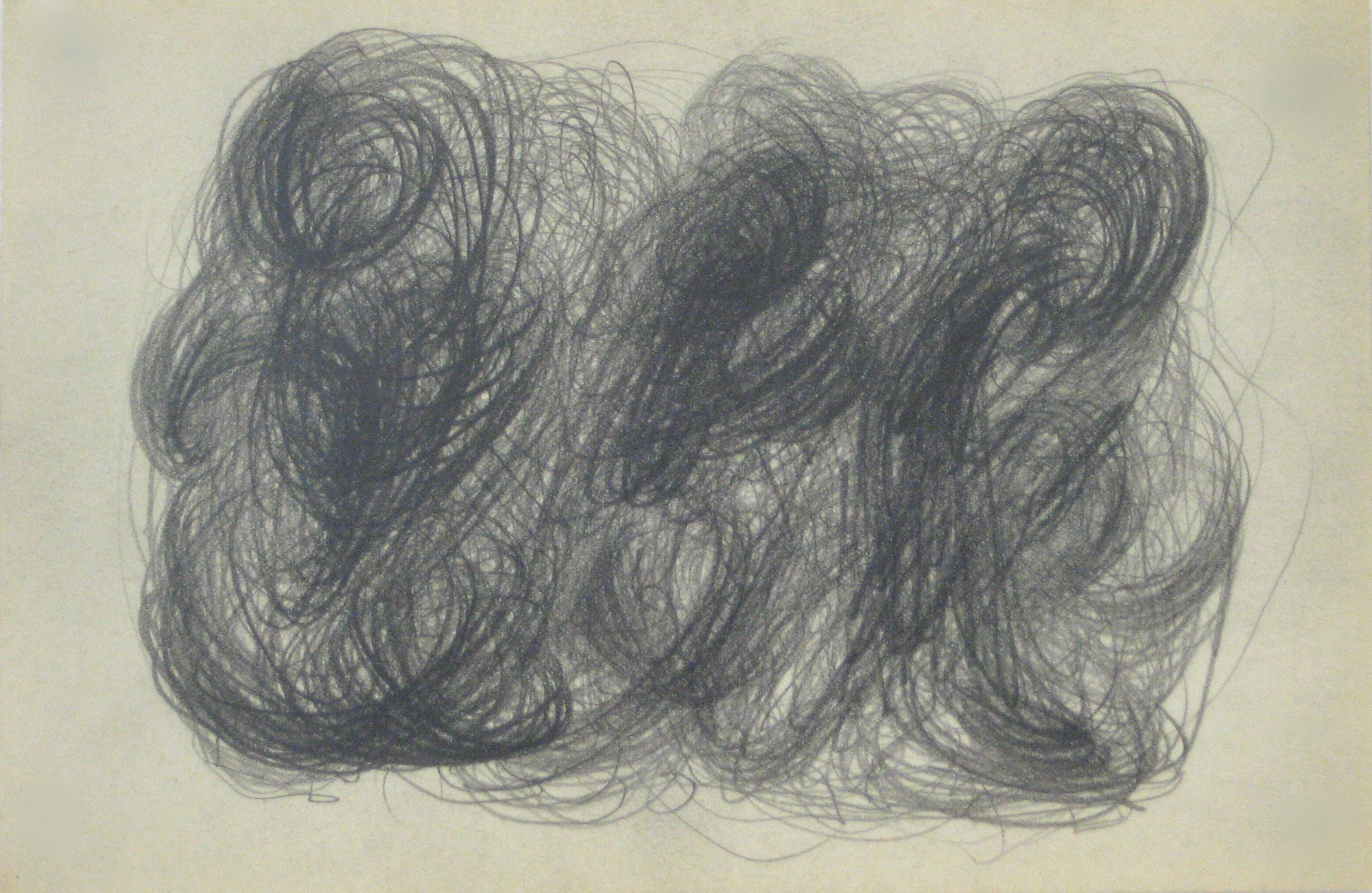 Swirled Graphite Abstract<br>Early-Mid 20th Century<br><br>#14055