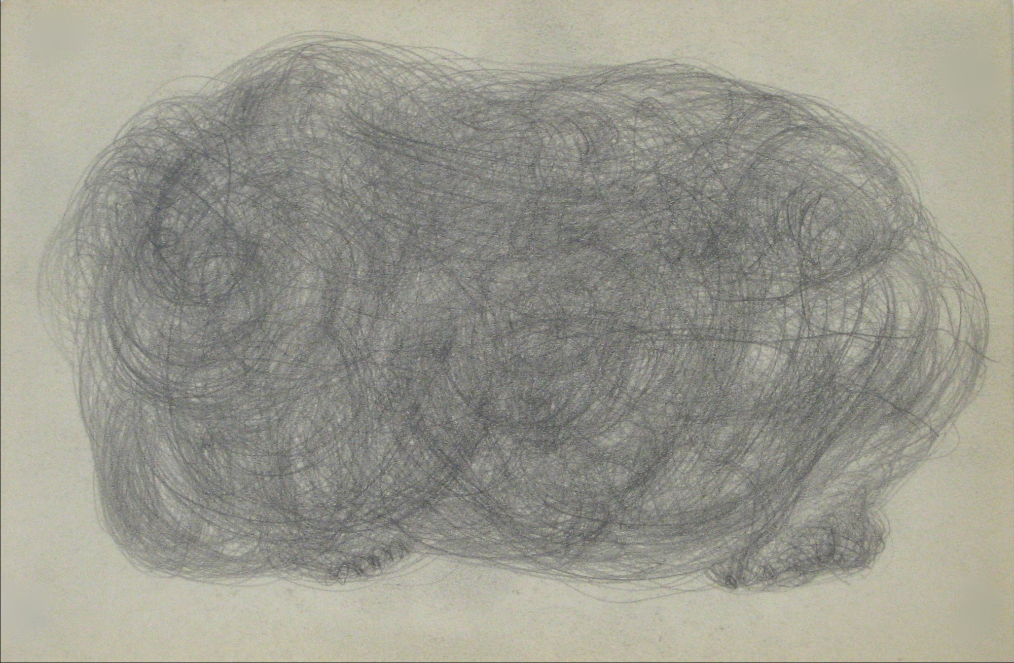 Swirled Graphite Abstract<br>Early-Mid 20th Century<br><br>#14056