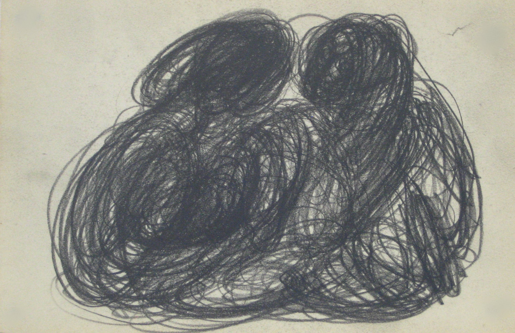 Swirled Graphite Abstract<br>Early-Mid 20th Century<br><br>#14058
