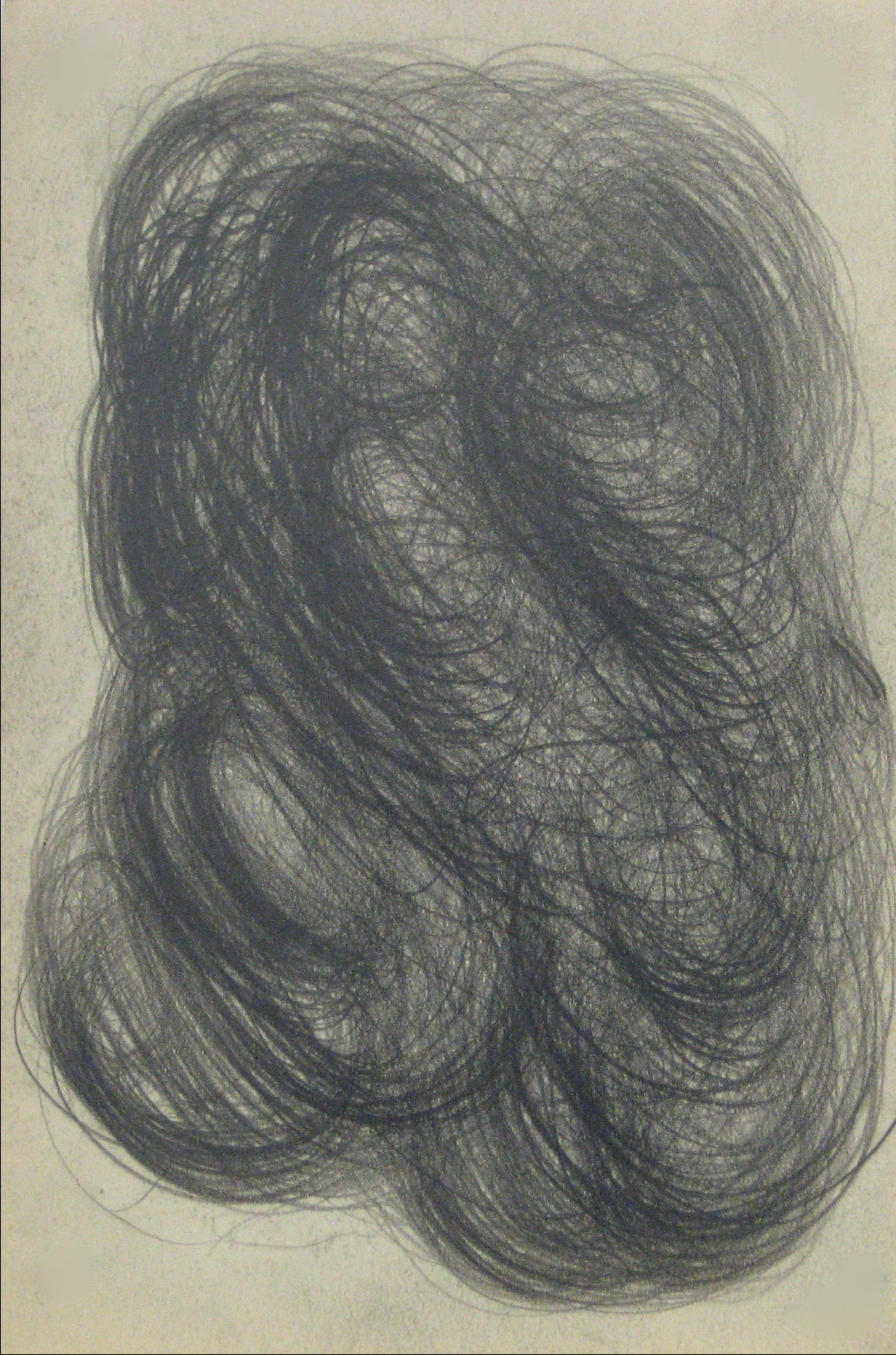Swirled Graphite Abstract <br>Early-Mid 20th Century <br><br>#14067