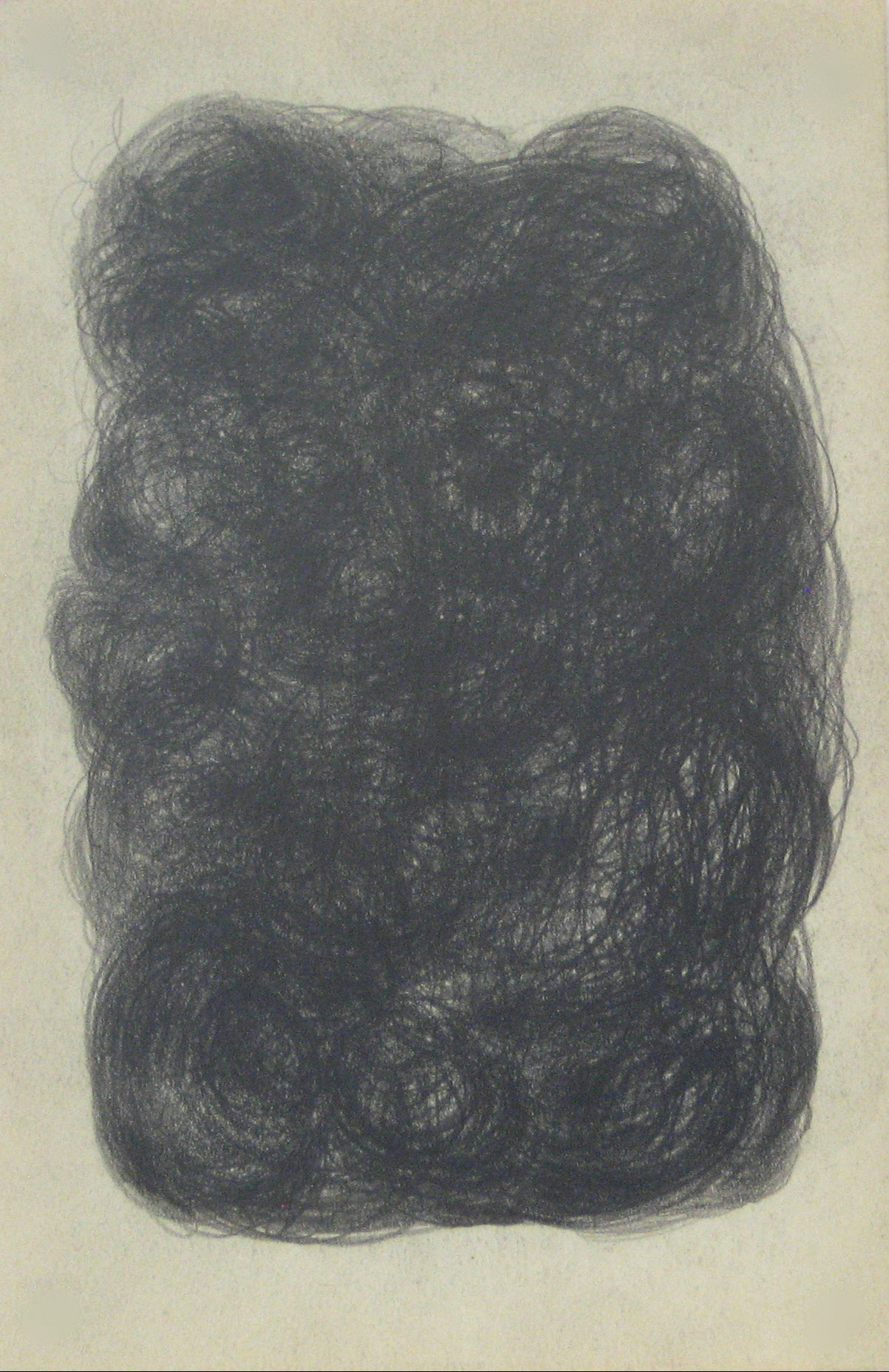 Swirled Graphite Abstract<br>Early-Mid 20th Century<br><br>#14072