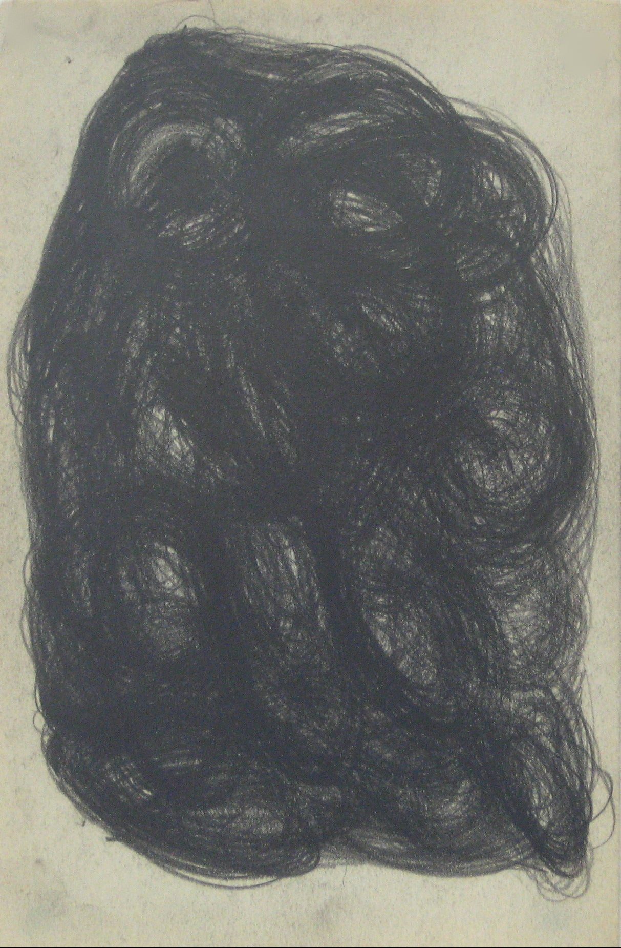 Swirled Graphite Abstract<br>Early-Mid 20th Century<br><br>#14075