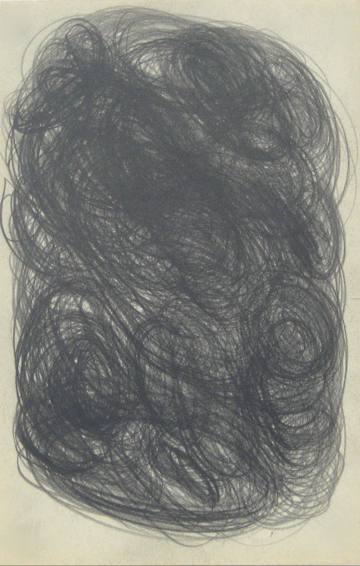 Swirled Graphite Abstract <br>Early-Mid 20th Century <br><br>#14076