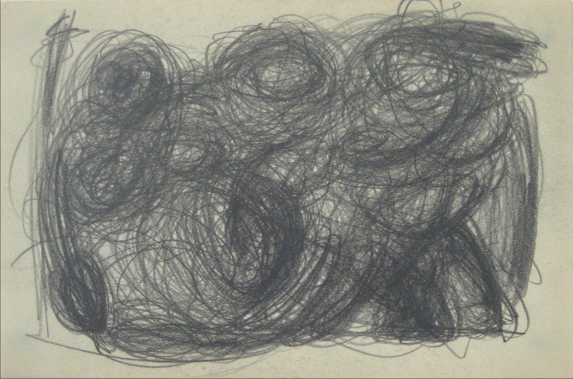 Swirled Graphite Abstract<br>Early-Mid 20th Century<br><br>#14077